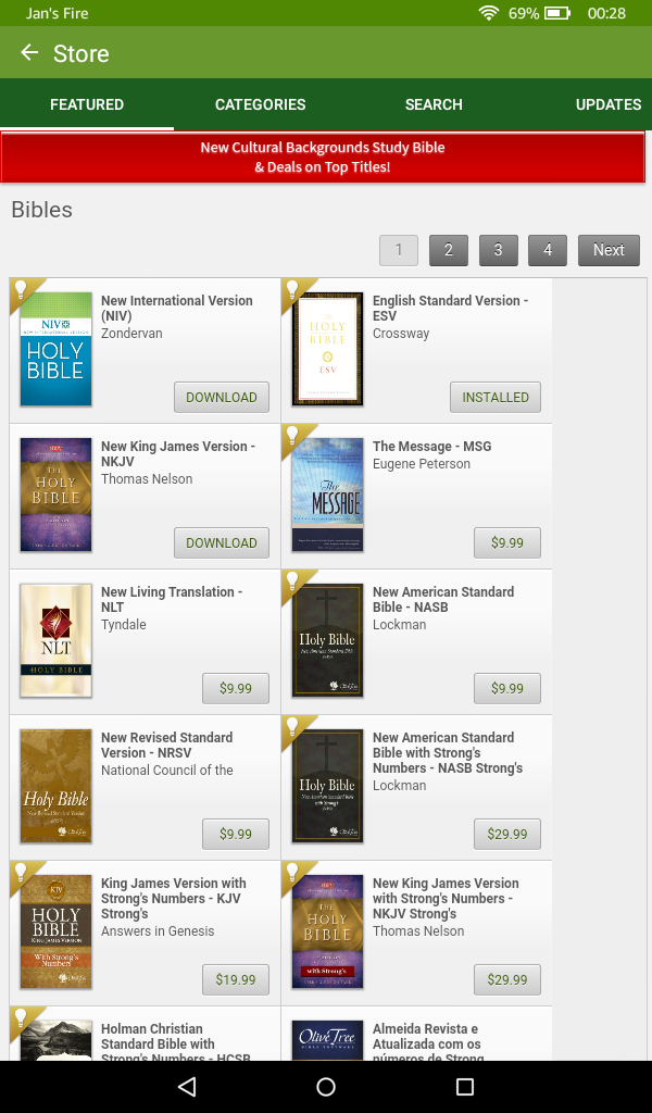 Best bible apps for amazon kindle fire esv bible fandeluxe Images