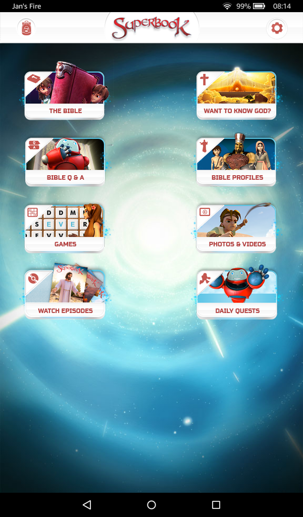 SuperBook Start Screen
