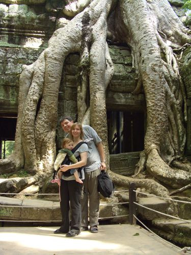 The Krohn family in Cambodia