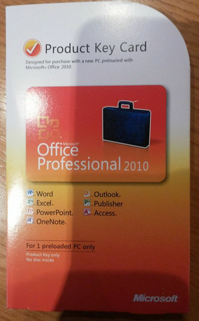Office 2010 PKC Packung